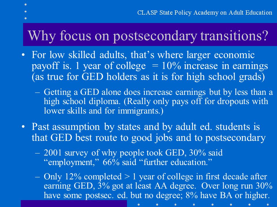 Why focus on postsecondary transitions.