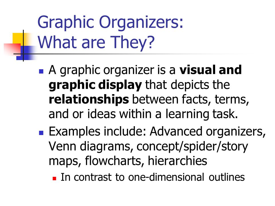Graphic Organizers: What are They.