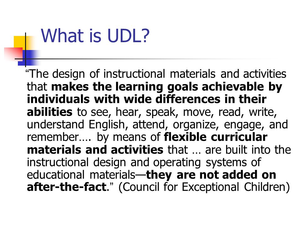 What is UDL.