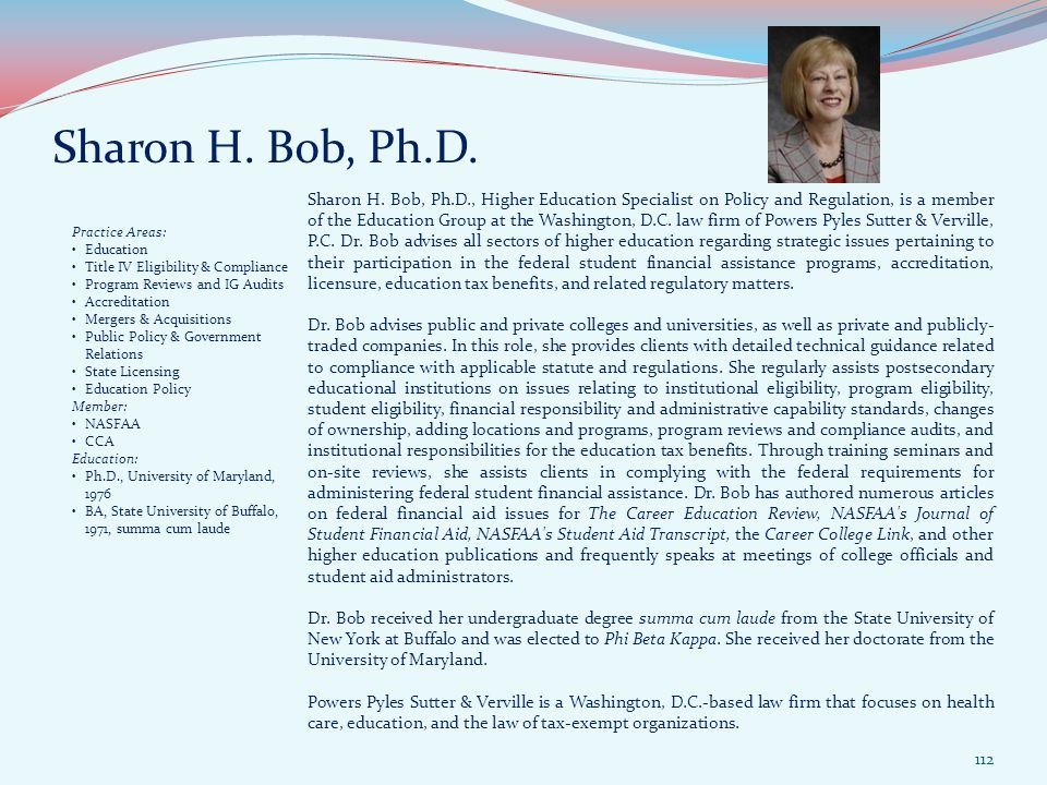 Sharon H. Bob, Ph.D. Sharon H.