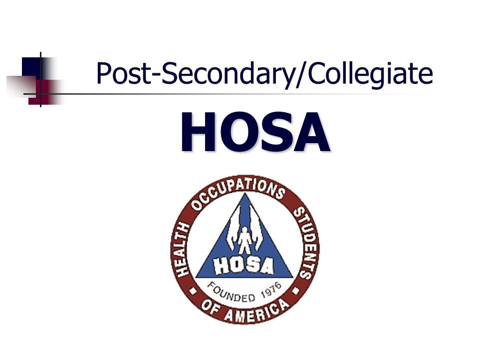 Post-Secondary/Collegiate HOSA HOSA