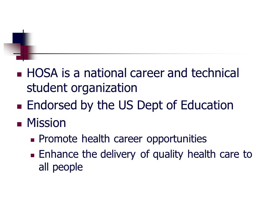 How will a Post- Secondary/Collegiate institution benefit from a HOSA Chapter?