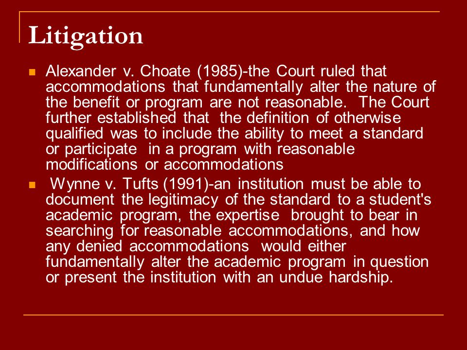 Litigation Alexander v.
