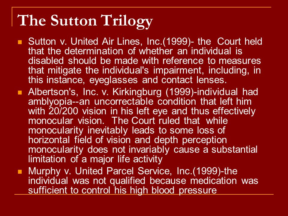 The Sutton Trilogy Sutton v.