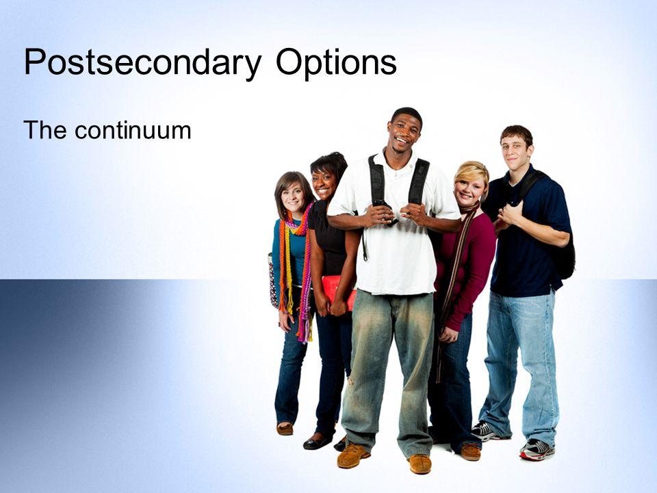 Postsecondary Options The continuum