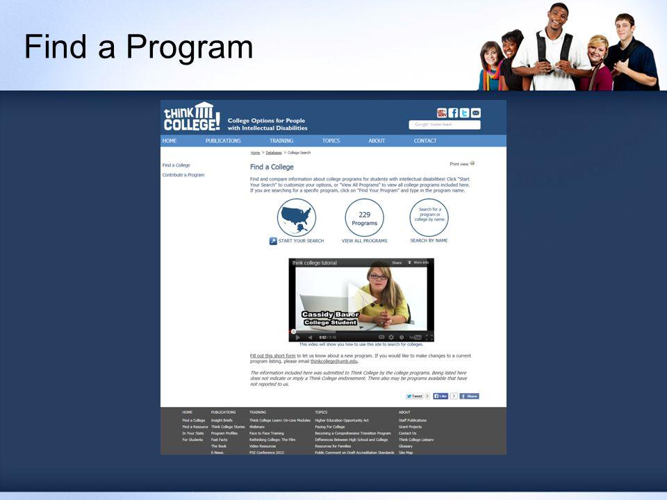Find a Program