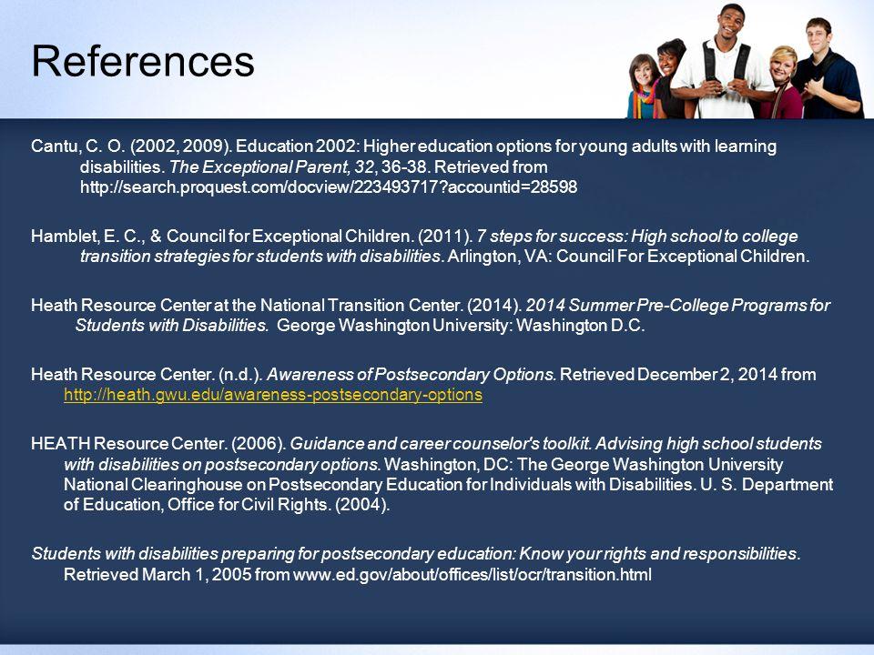 References Cantu, C. O. (2002, 2009).
