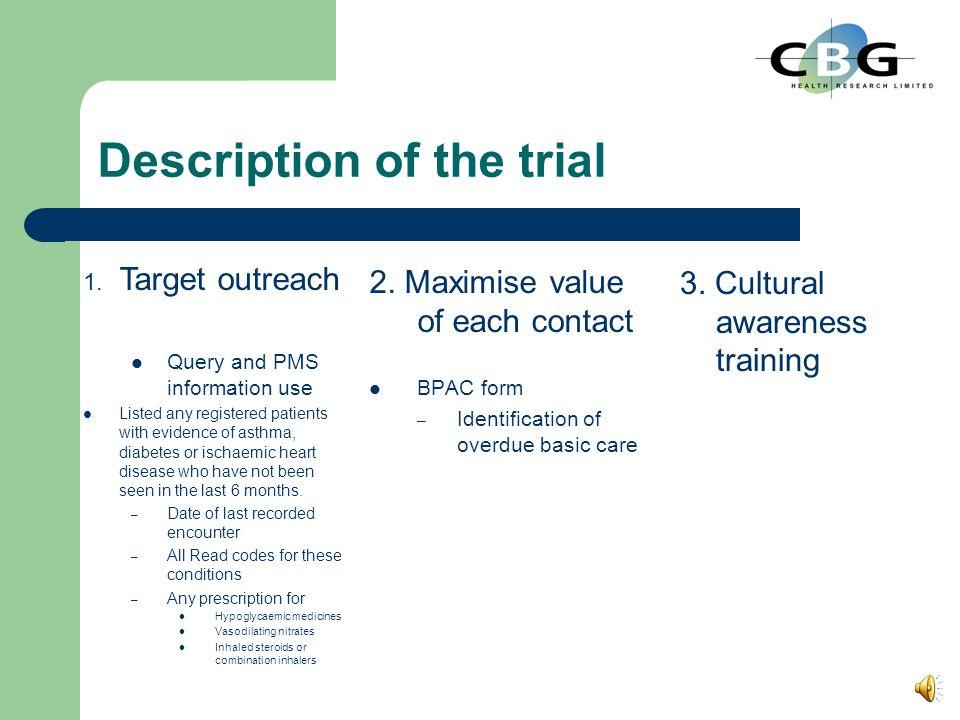 Description of the trial 2.