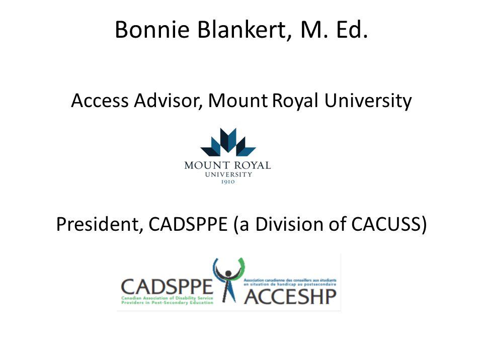 Bonnie Blankert, M. Ed.