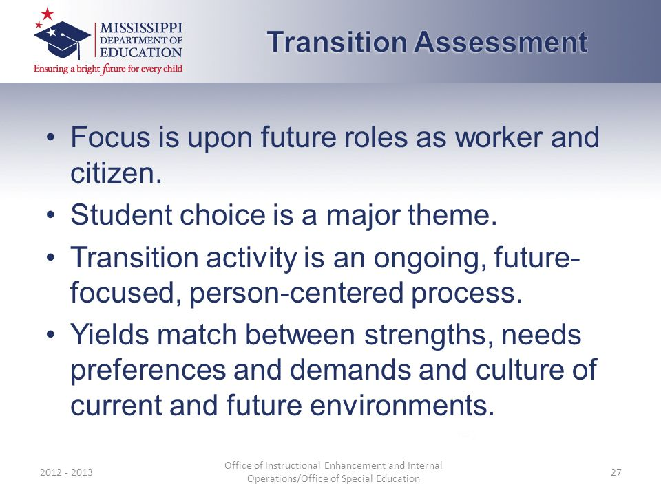 Focus is upon future roles as worker and citizen. Student choice is a major theme.