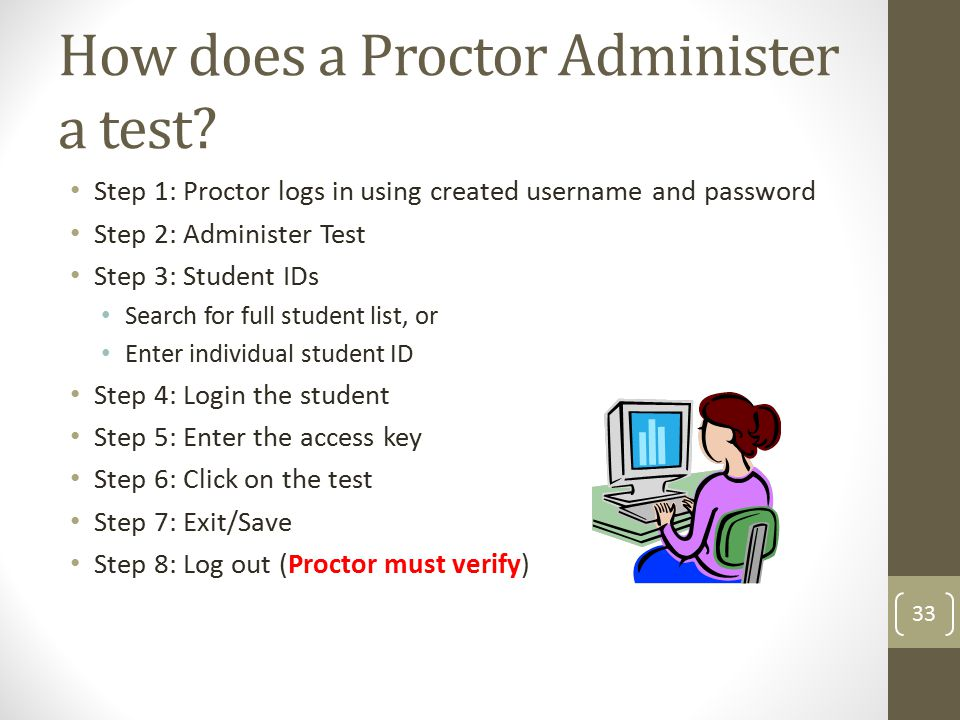 How does a Proctor Administer a test.