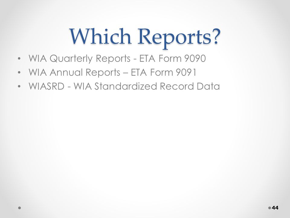 Which Reports.
