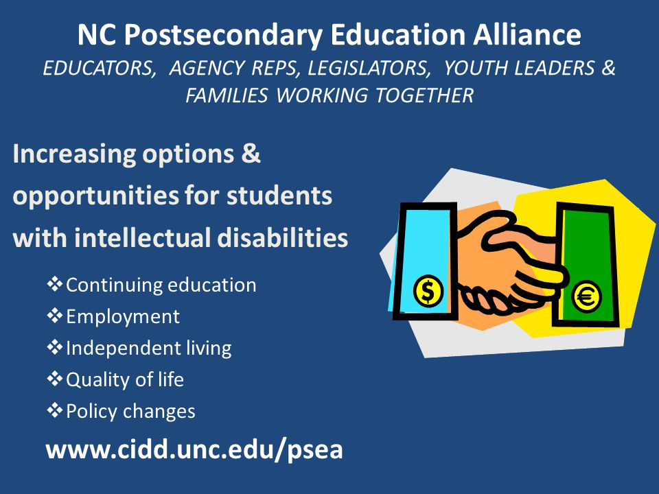 → Become familiar with inclusive PSE opportunities on college campus → Identify PSE experiences that lead to meaningful employment → Learn about strategies and supports for developing and sustaining PSE programs Objectives