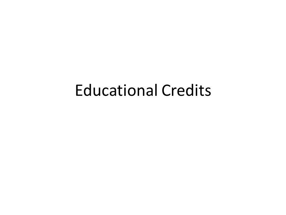 Educational Credits