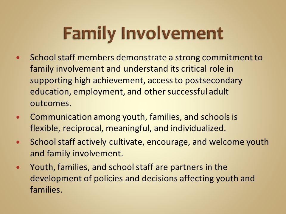 School staff members demonstrate a strong commitment to family involvement and understand its critical role in supporting high achievement, access to