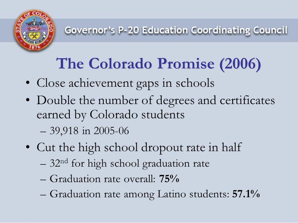 Matt Gianneschi, Ph.D.Senior Education Policy Analyst Office of Governor Bill Ritter, Jr.