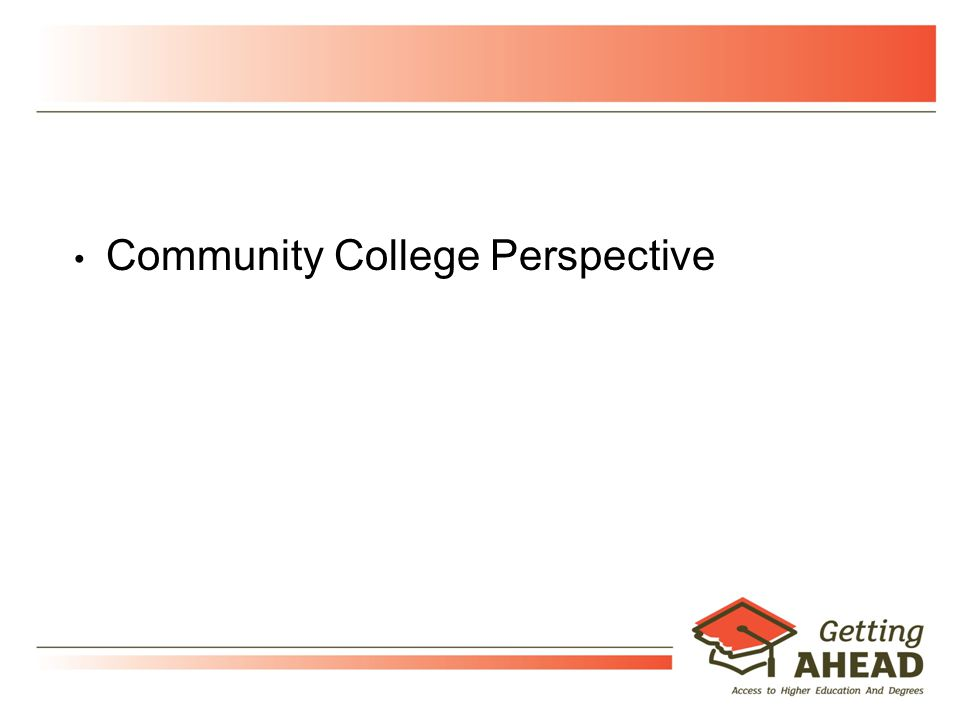 17 Community College Perspective