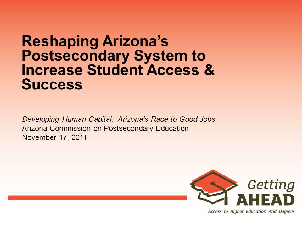 Evolving Higher Education Funding Higher Education Funding Model: 3-Phase Study Phase 1 – completed September 2010 Assessment of Arizona vs.