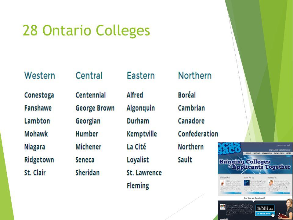 28 Ontario Colleges