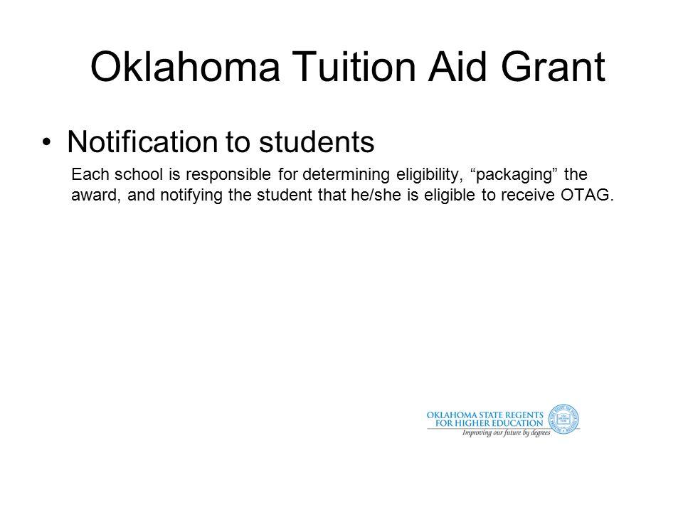 Oklahoma Tuition Aid Grant Program Contact Information Irala K.