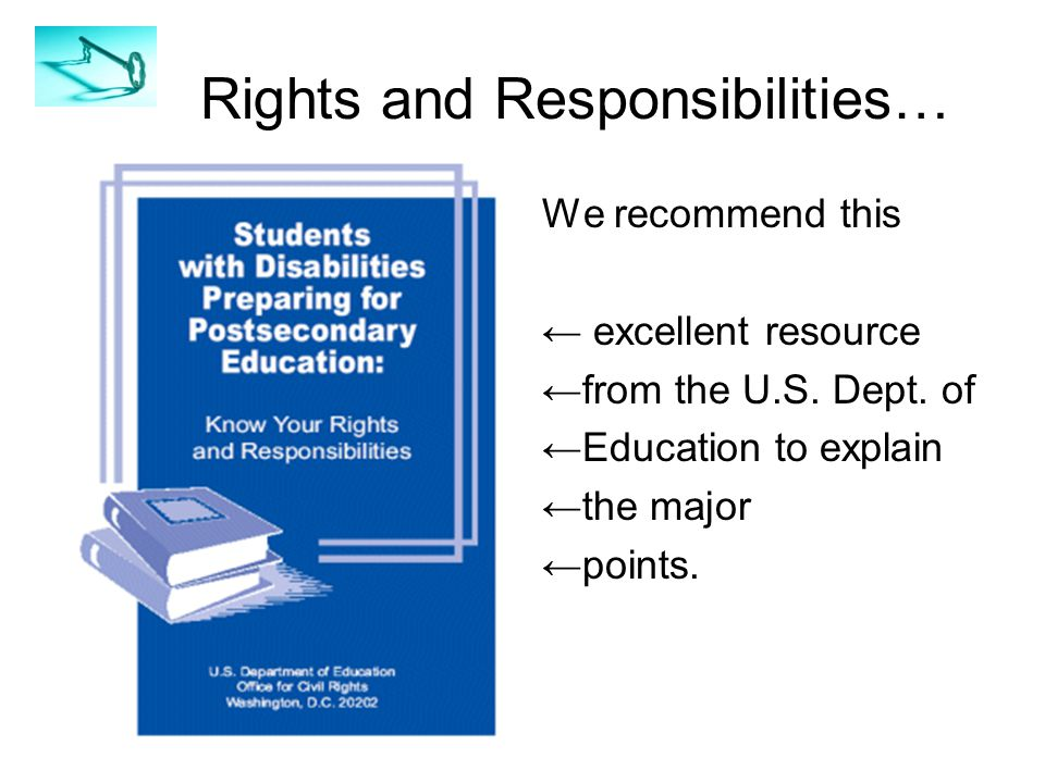 Rights and Responsibilities… We recommend this ← excellent resource ←from the U.S.