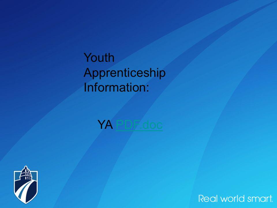 Youth Apprenticeship Information: YA PDF.docPDF.doc
