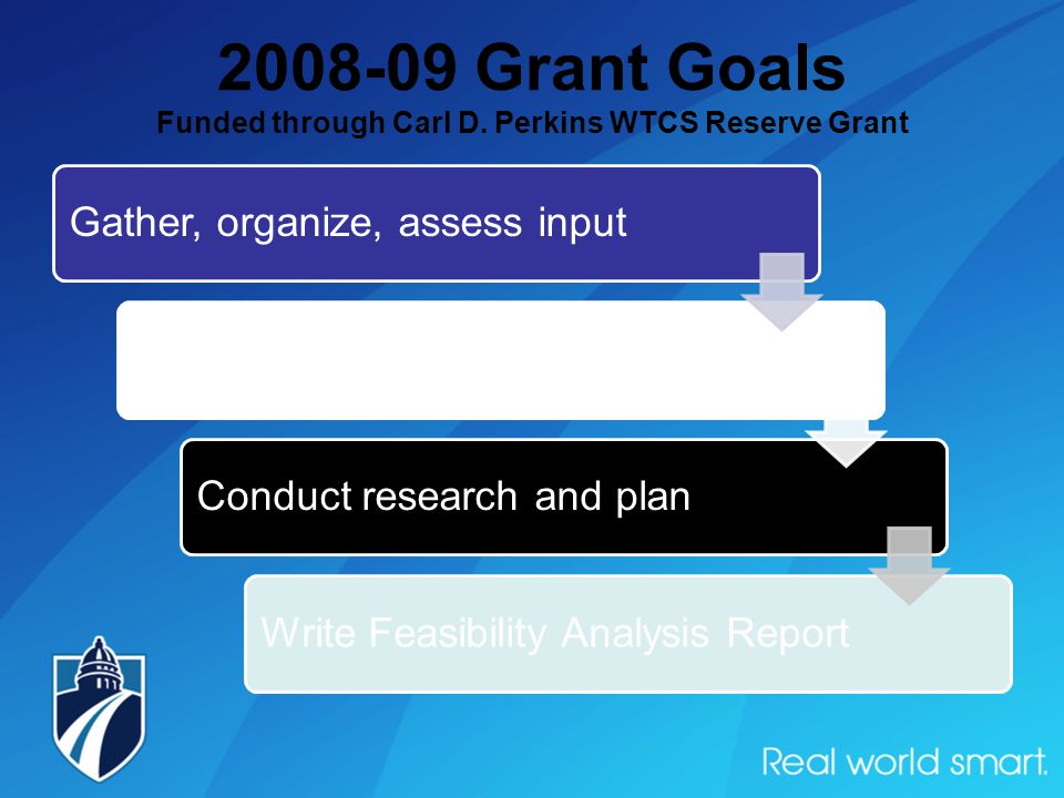 2008-09 Grant Goals Funded through Carl D.