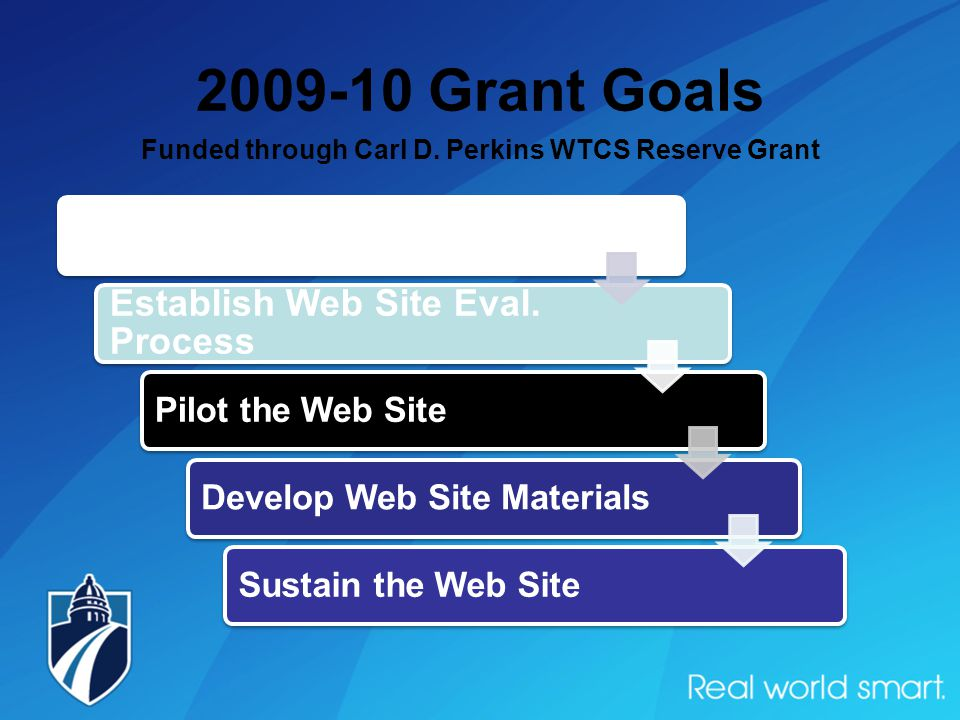 2009-10 Grant Goals Funded through Carl D.
