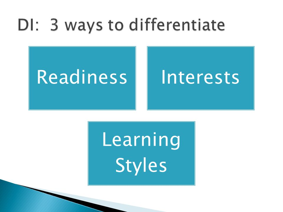 ReadinessInterests Learning Styles