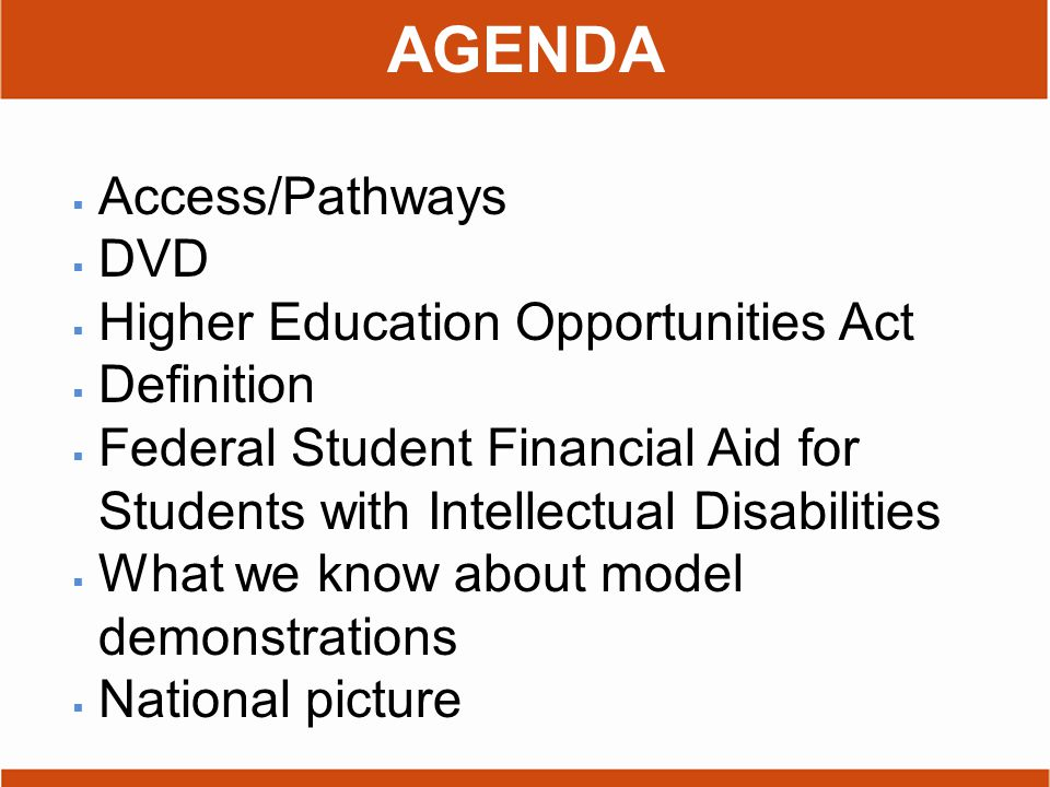 What do we mean by access to higher education?