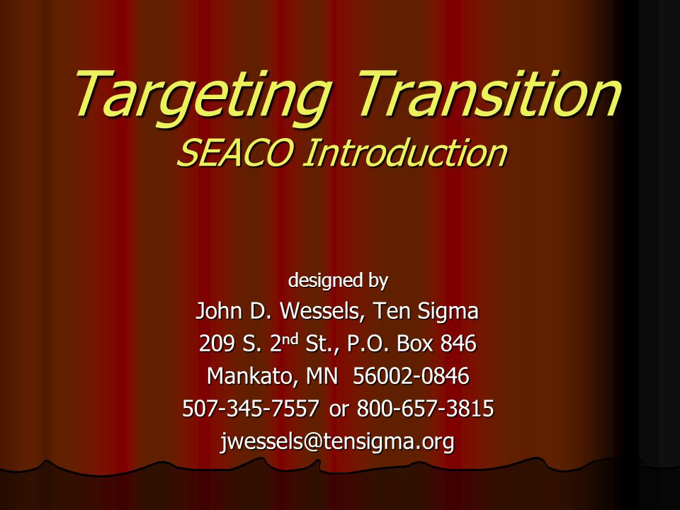 Evaluating the Targeting Transition Implementation A.