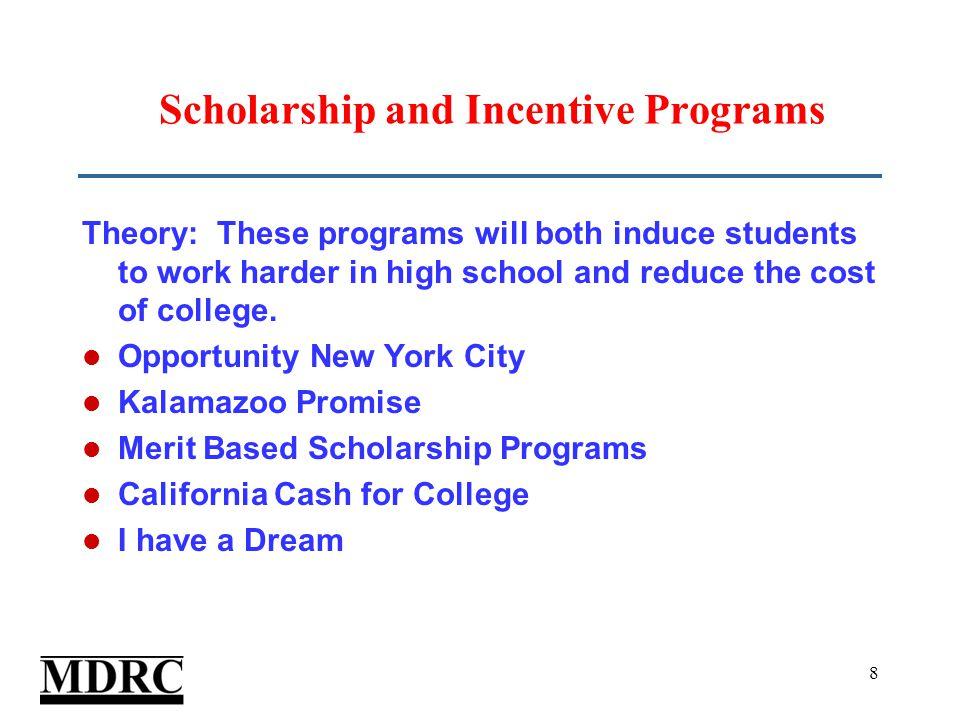 19 Scholarship Led to Higher Enrollment ** *