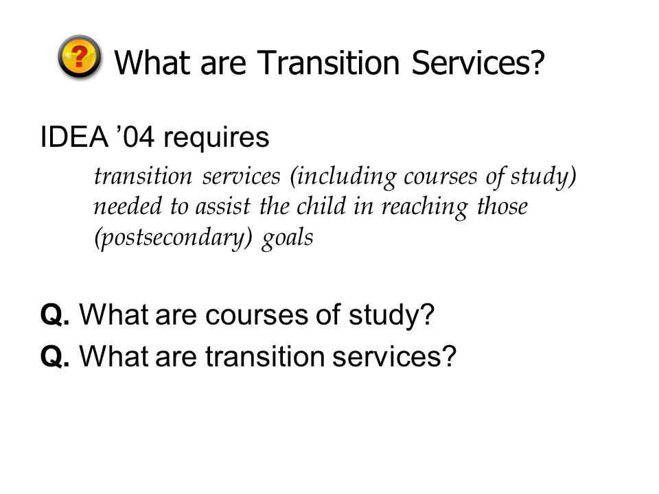 What are Transition Services.