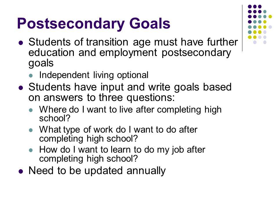 Postsecondary Goals