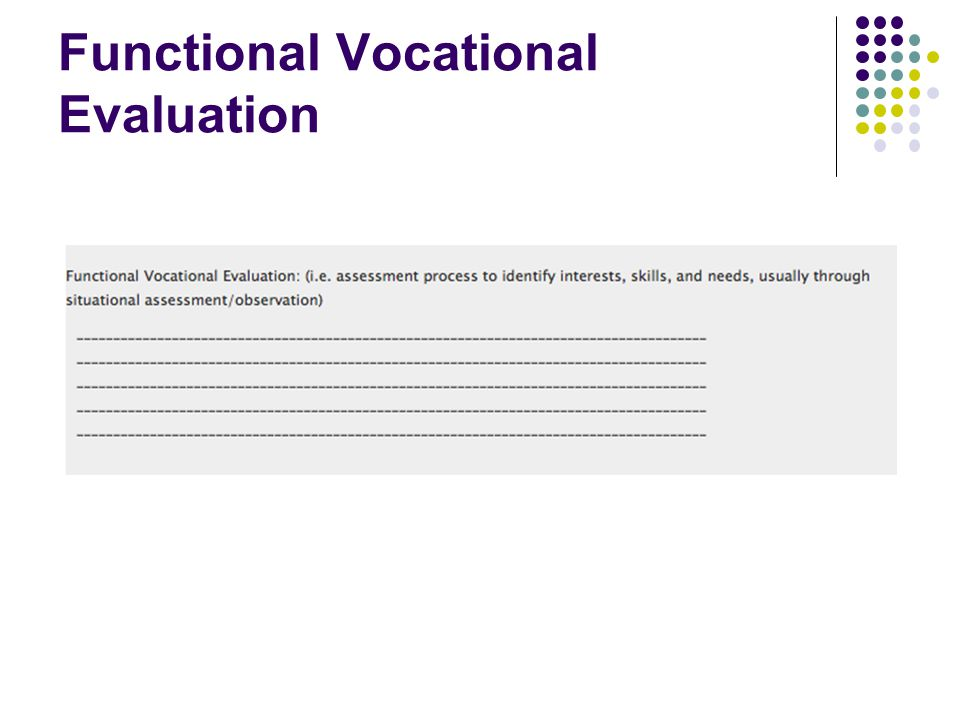 Functional Vocational Evaluation