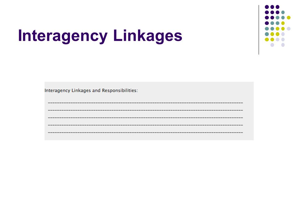 Interagency Linkages