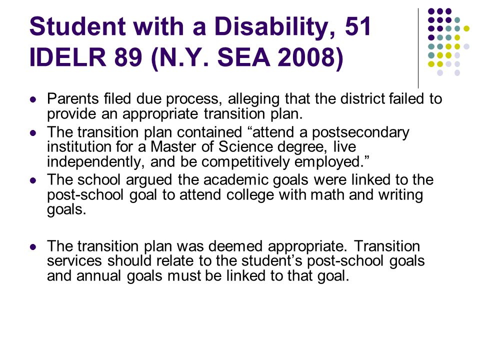 Student with a Disability, 51 IDELR 89 (N.Y.