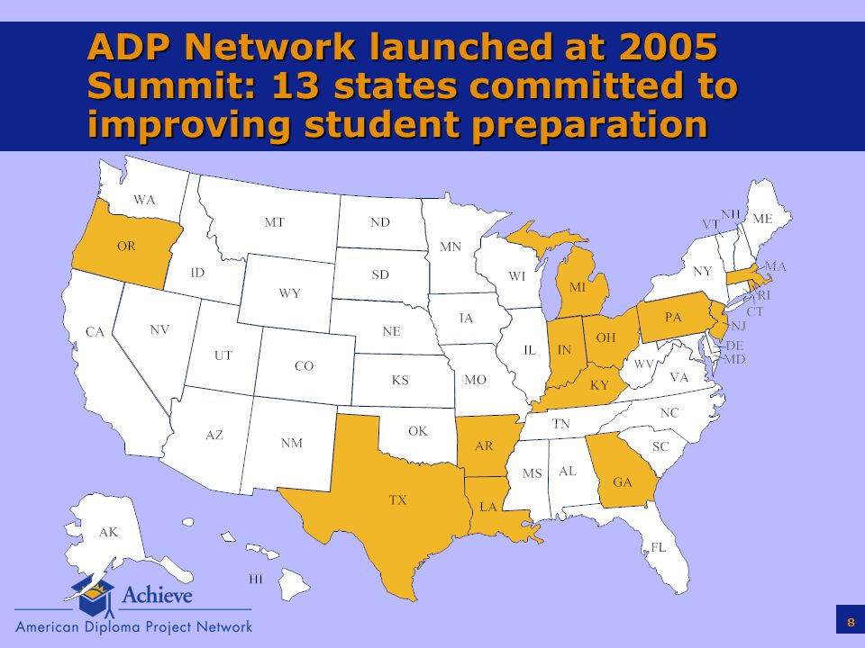 19 Different Approaches States are Taking to College/Career-Ready Assessments  End of Grade Tests: California's Early Assessment Program—students scoring college ready on 11 th grade state test guaranteed placement in credit bearing courses at CSU  End of Course Tests: City University of New York and State University of New York use higher-than-passing cut scores on selected end-of-course State Regents Exams for admissions/placement  Admissions Tests: Some states use ACT or SAT as part of high school assessment system