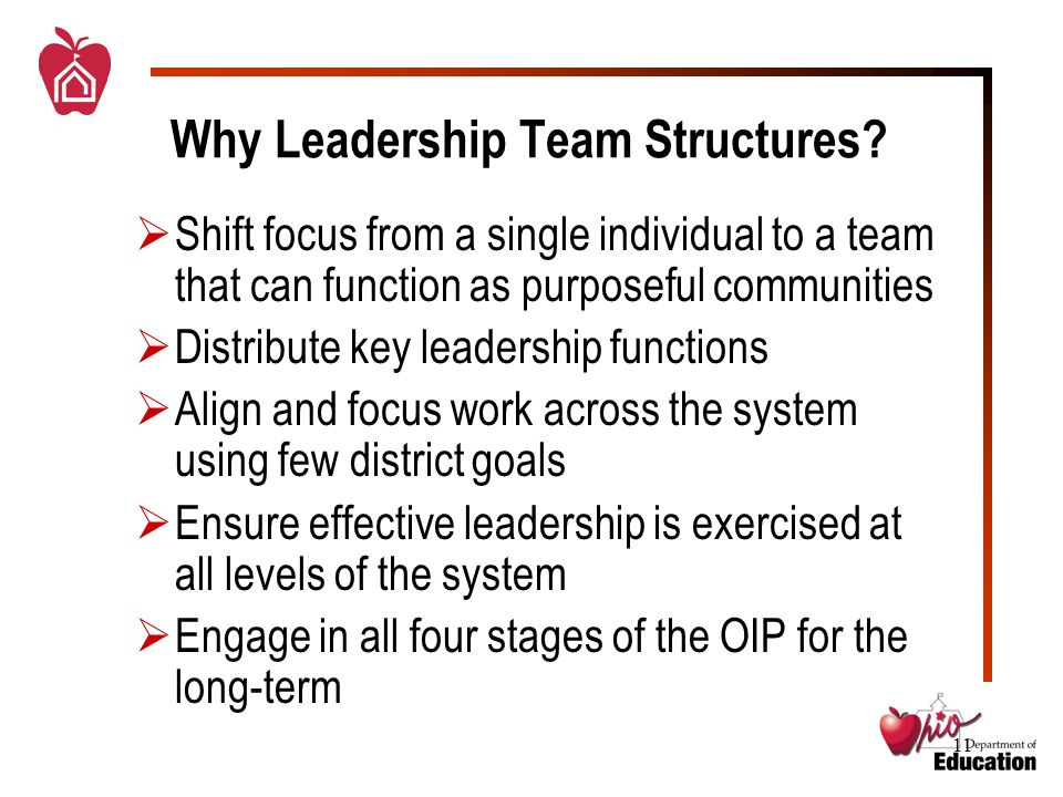 11 Why Leadership Team Structures.