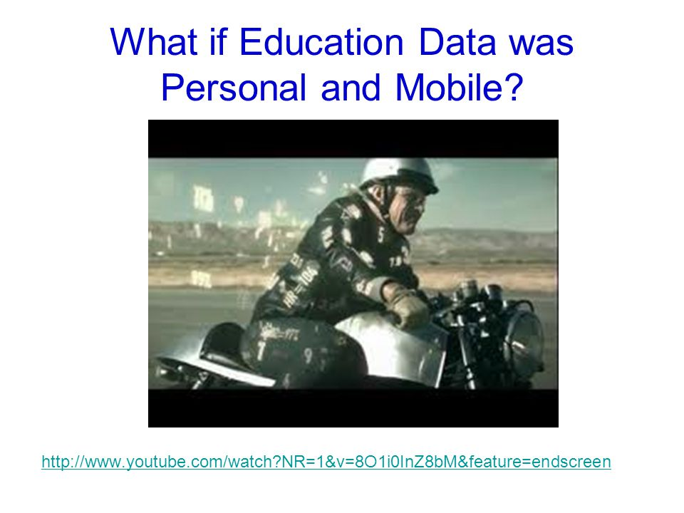 What if Education Data was Personal and Mobile.