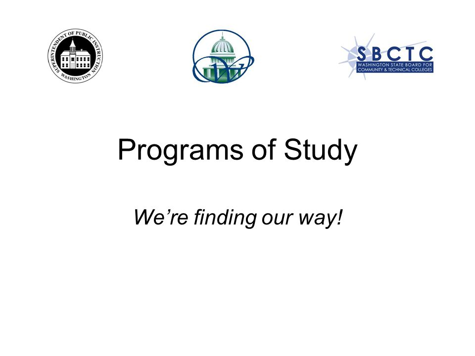 What is a Program of Study?