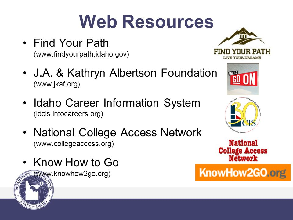 Find Your Path (www.findyourpath.idaho.gov) J.A.