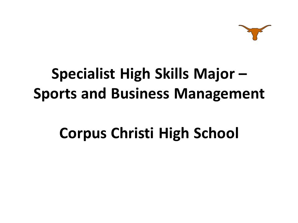 Specialist High Skills Major – Sports and Business Management
