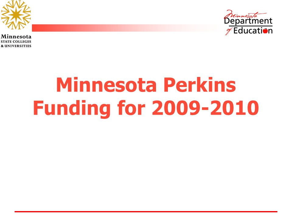 Minnesota Perkins Funding for 2009-2010