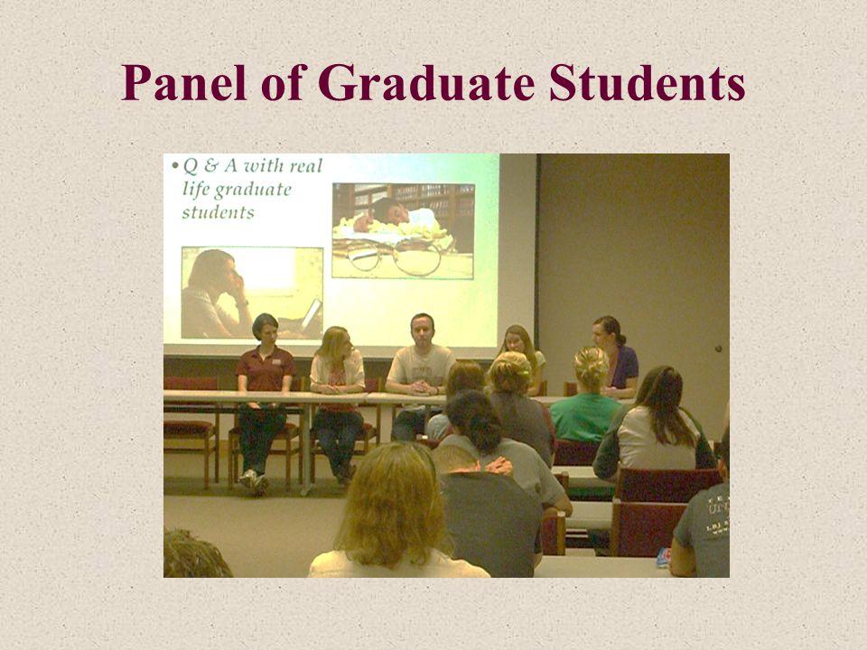 Panel of Graduate Students