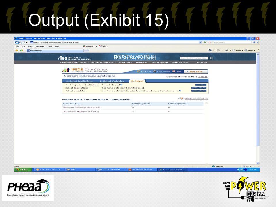 Output (Exhibit 15) 24