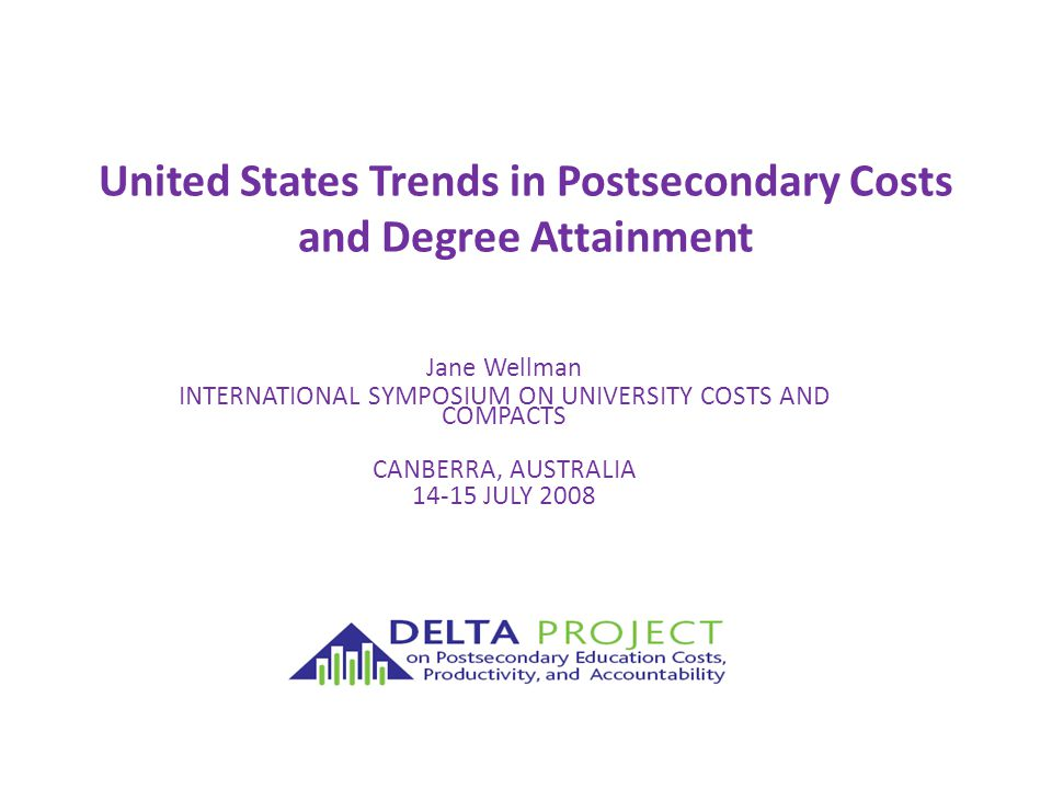 2 Summary of Major Dynamics Affecting Costs and US Degree attainment Need to increase degree attainment Persistent gaps in access and degree attainment affecting low income and minority groups Funding needed to increase degree attainment with current cost structures is highly unlikely under current trends Among public institutions, prices are increasing but spending is not – subsidy shift from state funds to tuition revenues Privatization of revenues has not benefitted instructional function; competition is further increasing spending Low income and minority students increasingly clustered in public two-year sector – where spending is low, and fewer than 30% of students get to a baccalaureate degree Public perceptions/critique about higher education sharpest on issues of cost and cost management