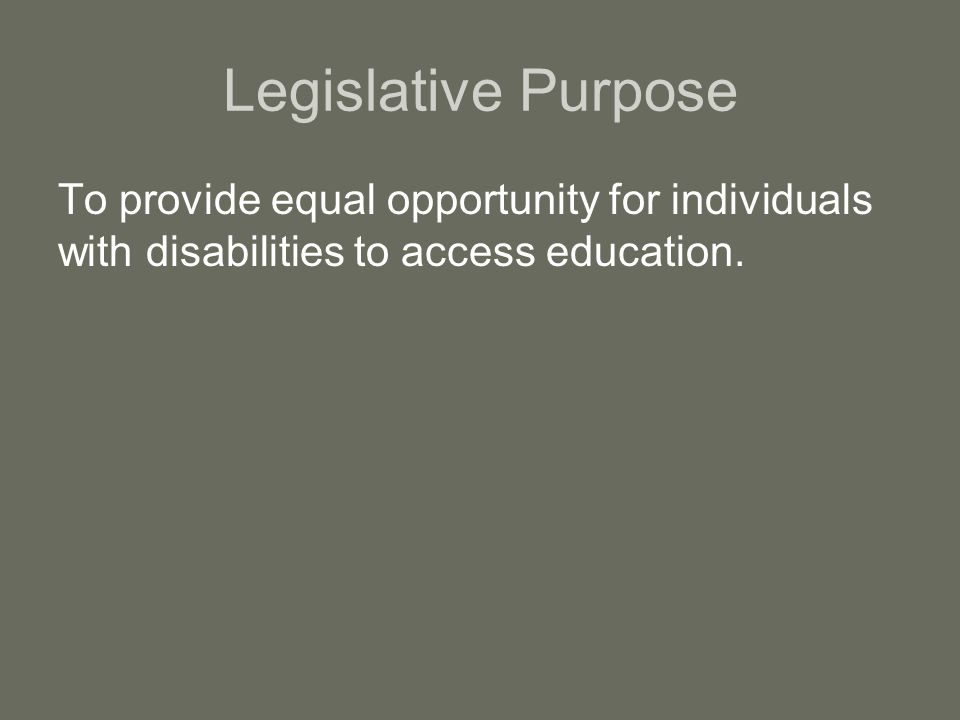 Determining a Disability The college has no obligation to identify students with disabilities Students must document the existence of a disability as defined by Section 504 and ADA