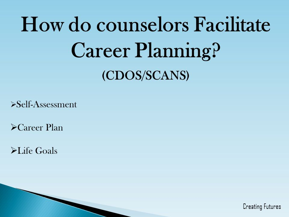 How do counselors Facilitate Career Planning.