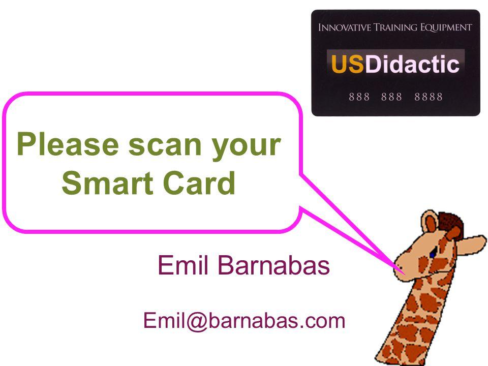 Please scan your Smart Card Emil Barnabas Emil@barnabas.com